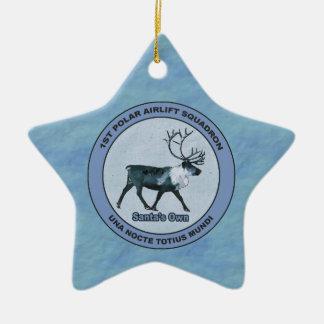 Ornamento De Cerâmica Esquadrões polares do transporte aéreo do papai