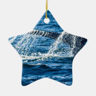 Ornamento De Cerâmica Estado de Washington da baleia de Humpback