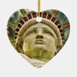 Ornamento De Cerâmica Estátua da liberdade