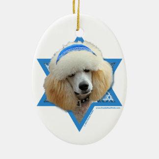 Ornamento De Cerâmica Estrela de David de Hanukkah - caniche - abricó