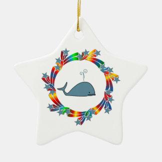 Ornamento De Cerâmica Estrelas da baleia
