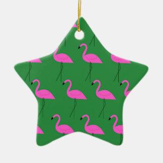 Ornamento De Cerâmica Ethno dos flamingos do design