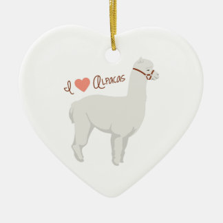 Ornamento De Cerâmica Eu amo alpacas