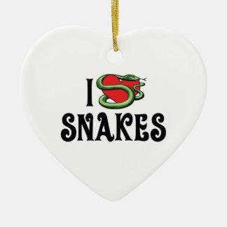 Ornamento De Cerâmica Eu amo cobras do coração