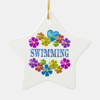 Ornamento De Cerâmica Eu amo nadar