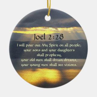 Ornamento De Cerâmica Eu derramarei para fora meu espírito Joel 2 28,