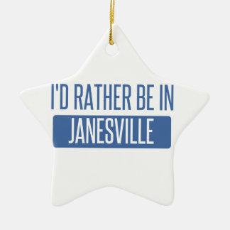 Ornamento De Cerâmica Eu preferencialmente estaria em Janesville