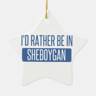 Ornamento De Cerâmica Eu preferencialmente estaria em Sheboygan