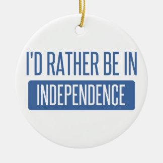 Ornamento De Cerâmica Eu preferencialmente estaria na independência