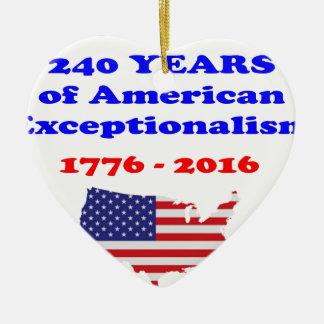 Ornamento De Cerâmica Exceptionalism americano