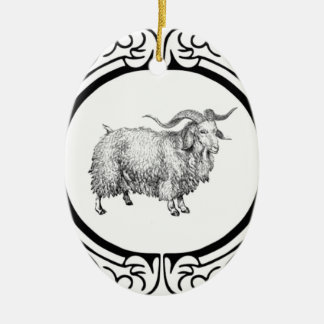 Ornamento De Cerâmica exposição velha dos carneiros