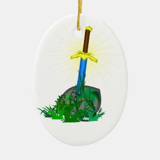 Ornamento De Cerâmica faca da espada da árvore