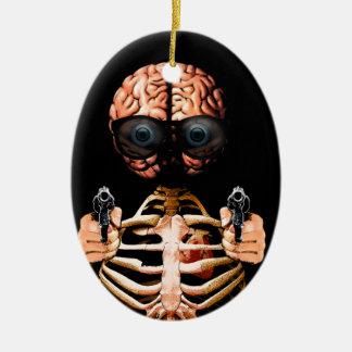 Ornamento De Cerâmica Faça o que seu cérebro diz
