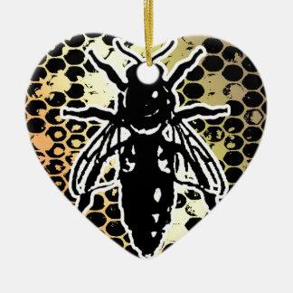Ornamento De Cerâmica Favo de mel da abelha geométrico