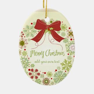 Ornamento De Cerâmica Fita personalizada do Natal de Las Vegas