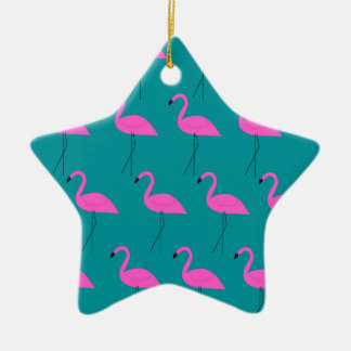 Ornamento De Cerâmica Flamingos do design exóticos