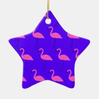 Ornamento De Cerâmica Flamingos do design exóticos na coleção azul 2018