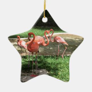 Ornamento De Cerâmica Flamingos no Maya de Riviera em México