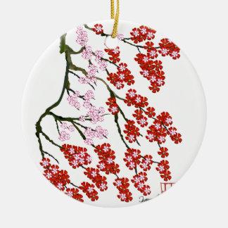 Ornamento De Cerâmica Flor de cerejeira cor-de-rosa 26, Tony Fernandes