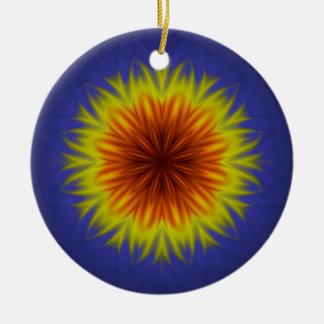 Ornamento De Cerâmica Flor real de Sun