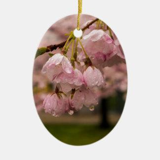 Ornamento De Cerâmica Flores do primavera