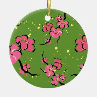 Ornamento De Cerâmica Flores japonesas