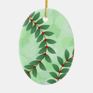 Ornamento De Cerâmica Folha delicada do feriado