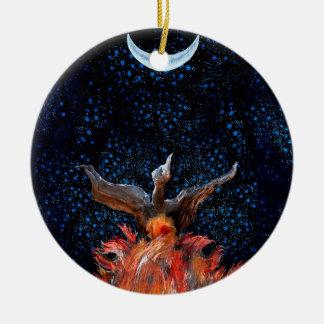Ornamento De Cerâmica Fora das chamas: Ascensão de Phoenix
