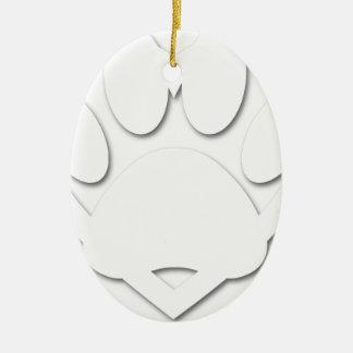 Ornamento De Cerâmica Forma da pata e do coração do cão do corte do
