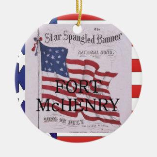 Ornamento De Cerâmica Forte McHenry de ABH