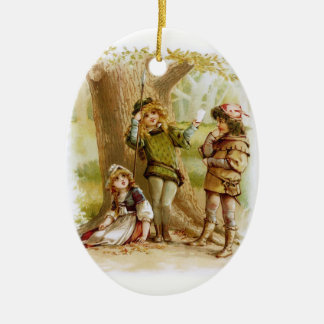 Ornamento De Cerâmica Frances Brundage: Celia, Rosalind, e Orlando