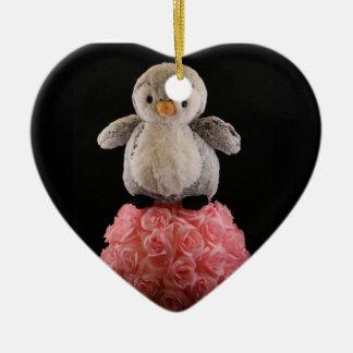 Ornamento De Cerâmica Frenchie o pinguim