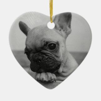 Ornamento De Cerâmica Frenchie puppy