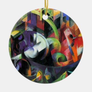 Ornamento De Cerâmica Gado por Franz Marc, belas artes abstratas do