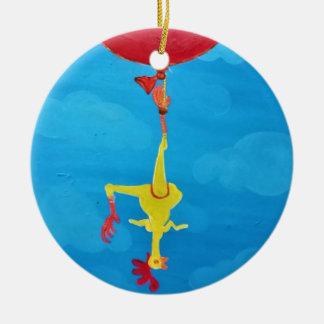 Ornamento De Cerâmica Galinha de borracha de suspensão