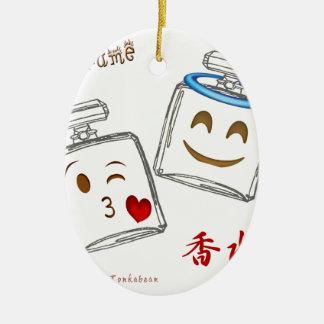 Ornamento De Cerâmica Garrafa de perfume Emoji