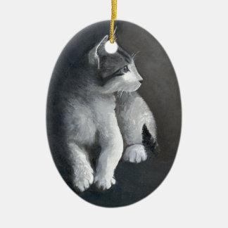 Ornamento De Cerâmica Gatinho do gato malhado