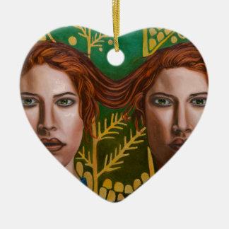 Ornamento De Cerâmica Gêmeos Siamese 5