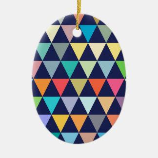 Ornamento De Cerâmica Geométrico colorido