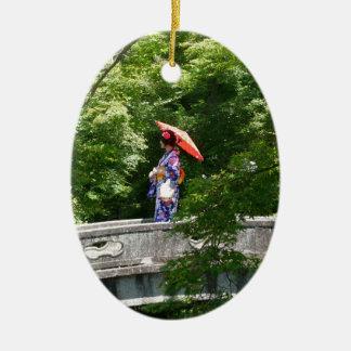 Ornamento De Cerâmica Girl Japão