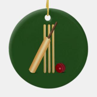 Ornamento De Cerâmica Grilo - wicket, bastão e bola