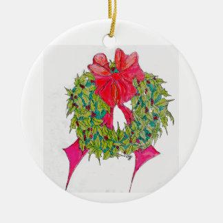 Ornamento De Cerâmica Grinalda do Natal