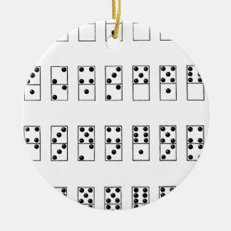 Ornamento De Cerâmica grupo retro do vintage de dominós
