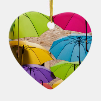 Ornamento De Cerâmica Guarda-chuvas coloridos