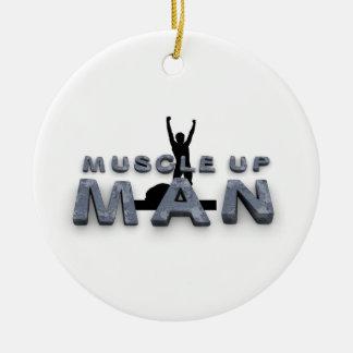 Ornamento De Cerâmica Homem SUPERIOR do músculo