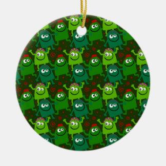 Ornamento De Cerâmica Homens verdes pequenos