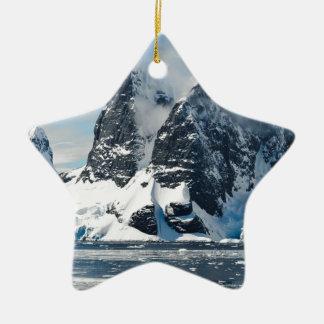Ornamento De Cerâmica icebergues de gelo das montanhas