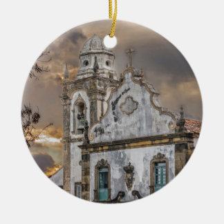 Ornamento De Cerâmica Igreja colonial Olinda da antiguidade exterior da