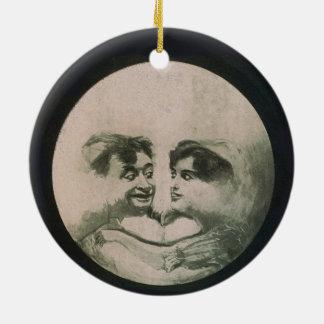 Ornamento De Cerâmica Ilusão óptica da lua