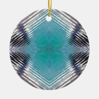 Ornamento De Cerâmica Ilusão óptica do borrão do preto da cerceta de